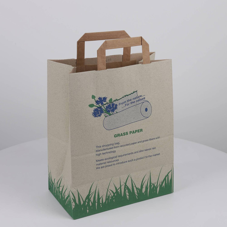 %30 Çimenden %70 geri dönüştürülmüş ürünlerden elde edilen bir poşettir.